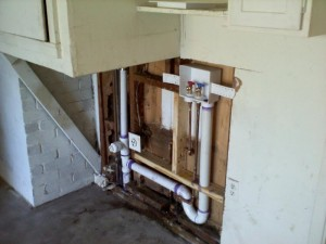 wash machine drain plumbing