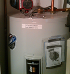 Bradford White water heater.